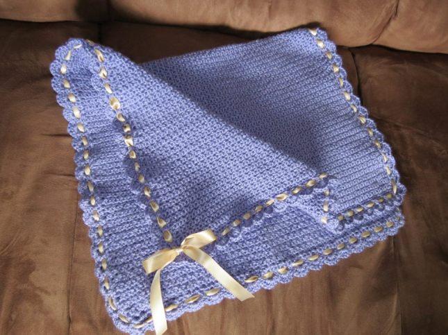 Lavender baby blanket_1