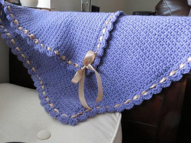 Lavender baby blanket_2