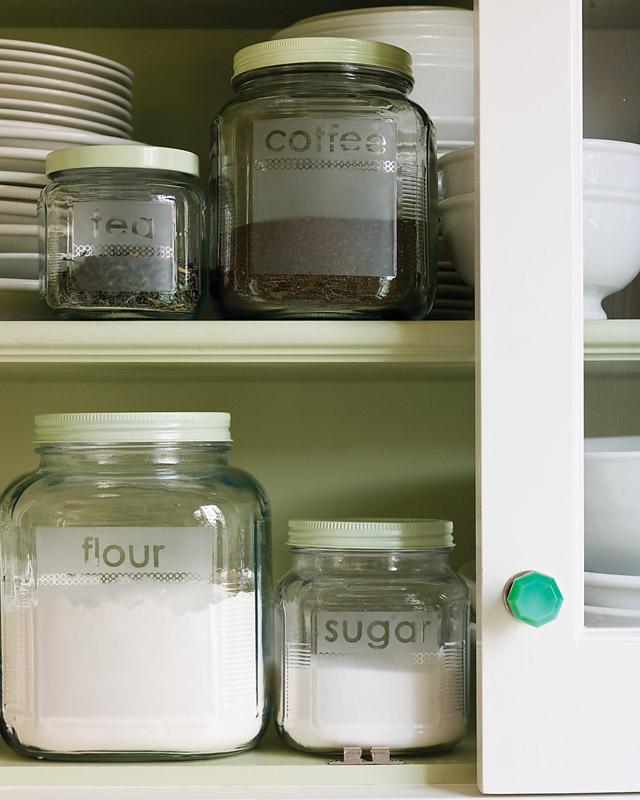 etched glass storage jars