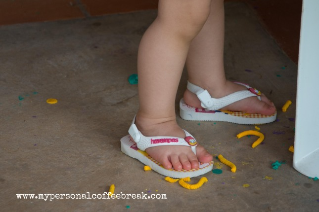 Day62_Baby feet and Play-Doh