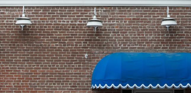 Day263_Farmhouse Lights, blue and brick