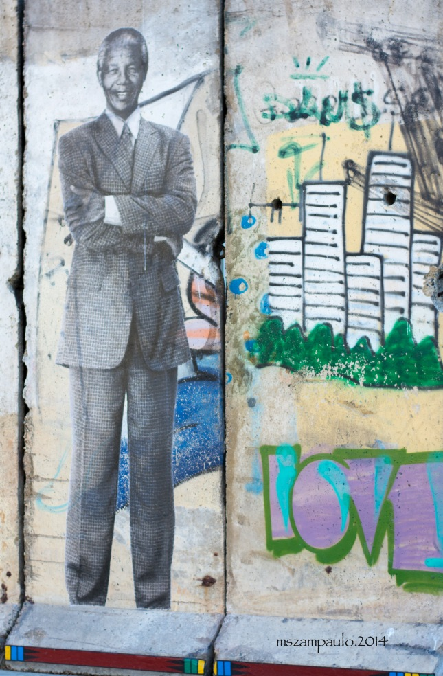 Day337_Mandela on Berlin wall